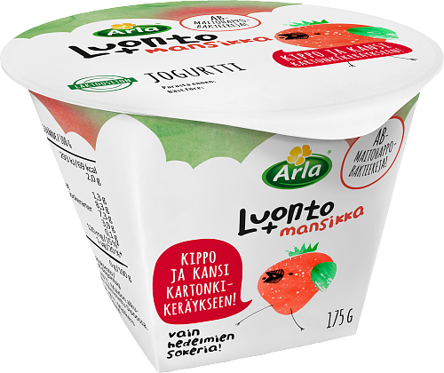 Mansikkajogurtti, laktoositon