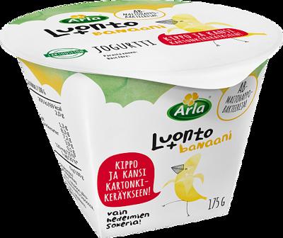 banaanijogurtti, laktoositon