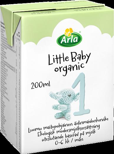 Little Baby&Me Organic 1 Luomu maitopohjainen äidinmaidonkorvike UHT