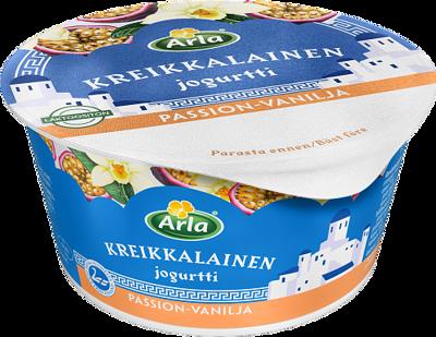 Kreikkalainen jogurtti passion-vanilja, laktoositon