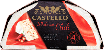 White with red chili
