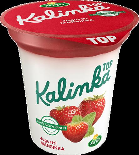Kalinka Top Mansikkakerrosjogurtti vähälaktoosinen