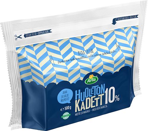 Arla Tolkuttomat Juustot Huoleton Kadett 10 % 500 g