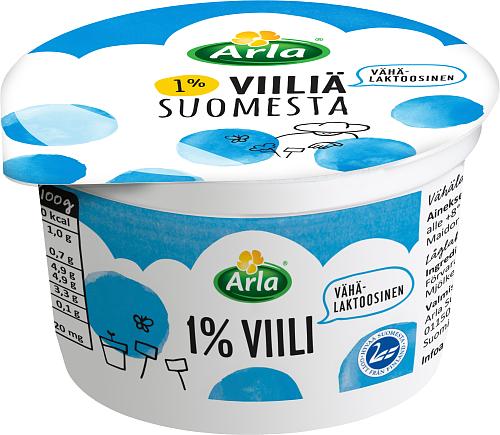 Arla® 1% Viiliä Suomesta, vähälaktoosinen 200 g