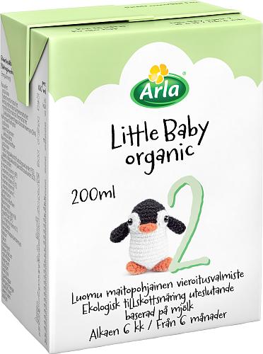 Arla® Little Baby&Me Organic 2 Luomu maitopohjainen vieroitusvalmiste UHT 200 ml