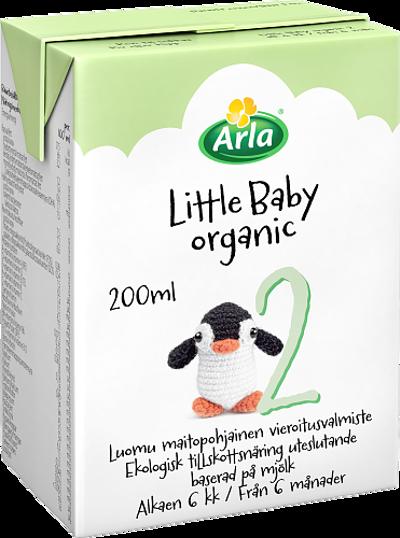Little Baby&Me Organic 2 Luomu maitopohjainen vieroitusvalmiste UHT