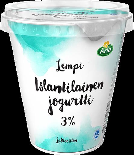 Islantilainen jogurtti 3%, laktoositon