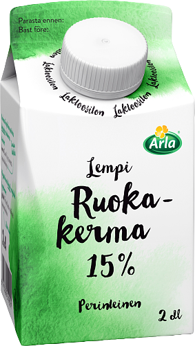 Arla® Lempi Ruokakerma 15 % laktoositon 2 dl