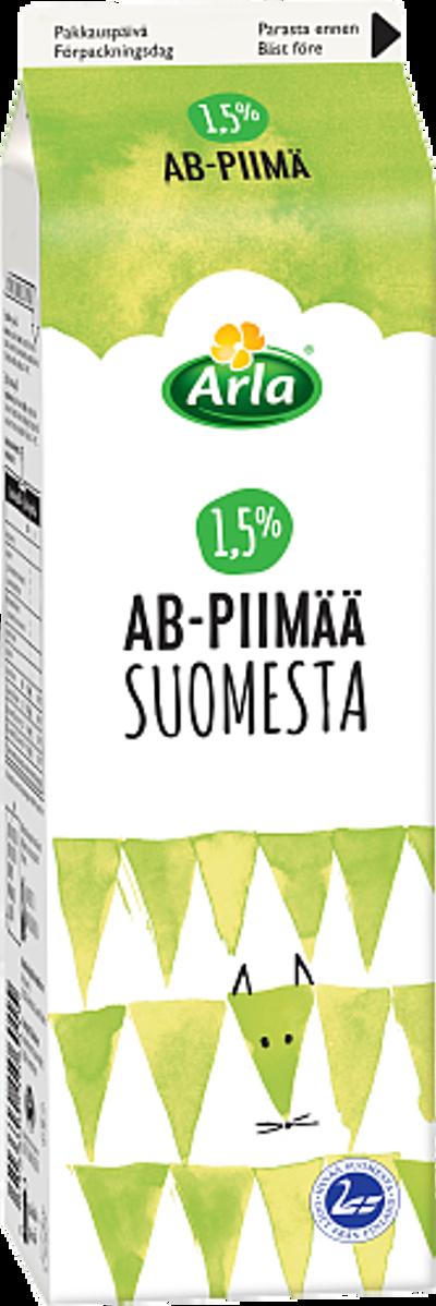 AB-piimä Suomesta 1,5 %