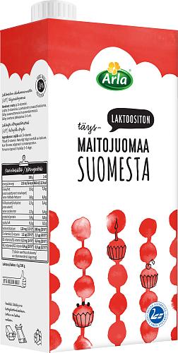 Arla Maitoa Suomesta Laktoositon Täysmaitojuoma UHT 1 l