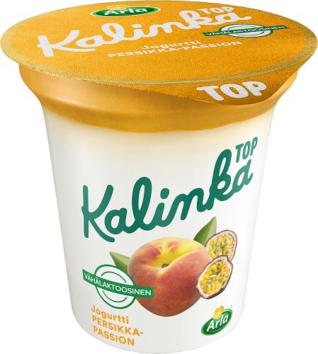 Arla® Kalinka Top Persikka-passionkerrosjogurtti vähälaktoosinen 150 g