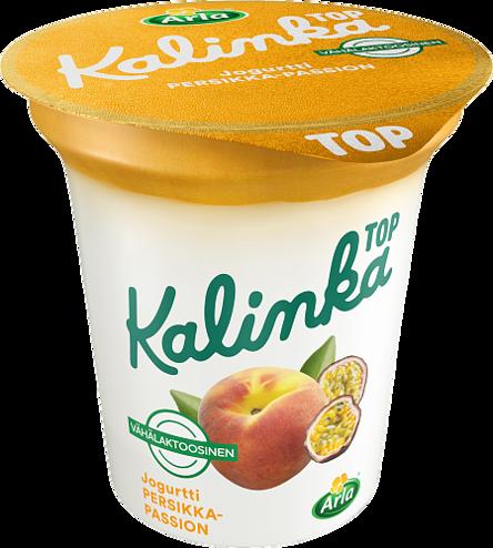 Kalinka Top Persikka-passionkerrosjogurtti vähälaktoosinen