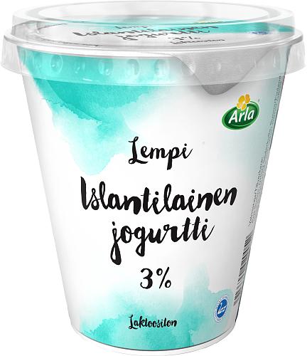 Arla® Lempi Islantilainen jogurtti 3%, laktoositon 300 g