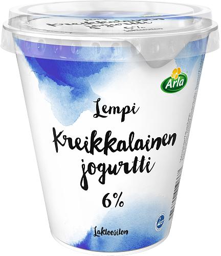 Arla® Lempi Kreikkalainen jogurtti 6 %, laktoositon 300 g