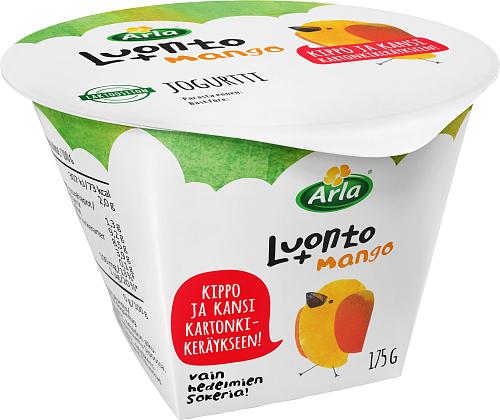 Arla® Luonto+ mangojogurtti laktoositon 175 g