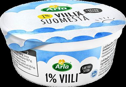 Laktoositonta 1 % viiliä Suomesta