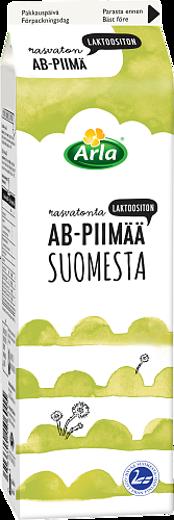 Laktoositonta rasvatonta AB-piimää Suomesta