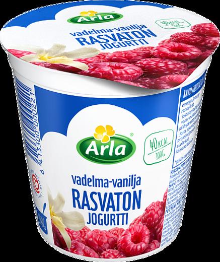 Rasvaton vadelma-vaniljajogurtti