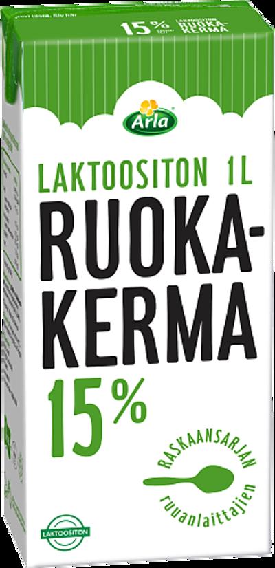 Laktoositon ruokakerma 15% (UHT)